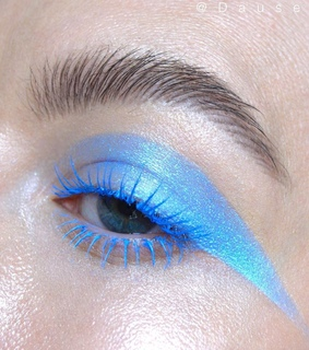 blue eyeshadow, concealer and cosmetic