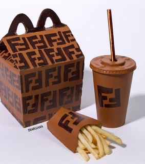 French Fries, McDonald's and brown