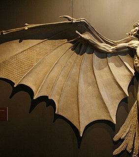 gothic, wings and dark academia