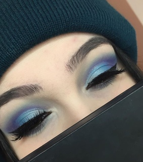 beauty, blue and eyeliner