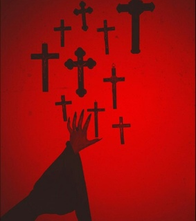 aesthetic, horror and cross