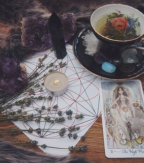 candle, wicca and crystal
