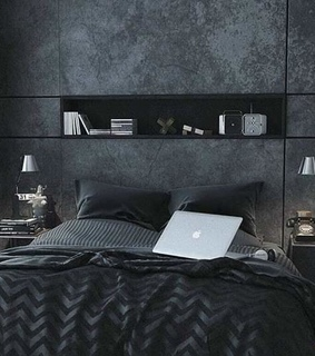 home, black and accessories