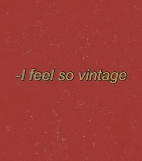 vintage, me and emotions