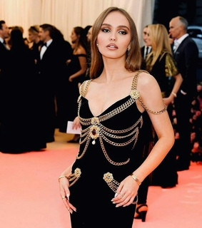 famous, lily rose depp and model