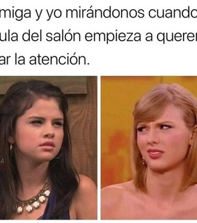 Taylor Swift, amigos and attention