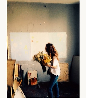 art, flowers and girl