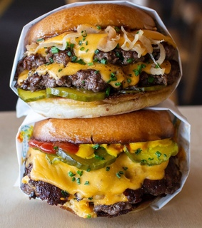cheeseburger and food