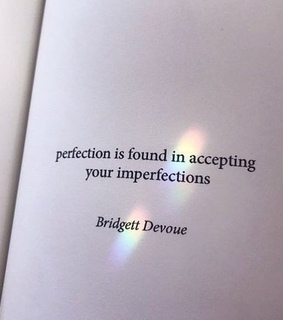 quote, accept yourself and perfection