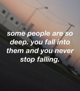 thoughts, falling and drowning