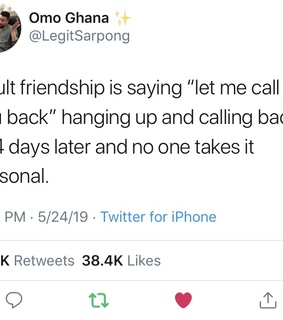 adult friendships, call and definitely