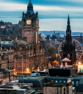 tower, city and scotland