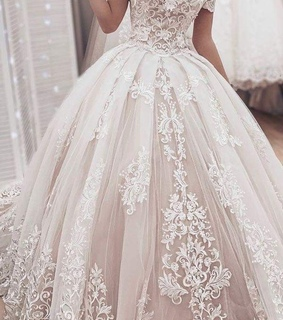 dress, ball gown and bride