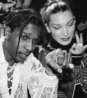 asap rocky, bella hadid and black and white