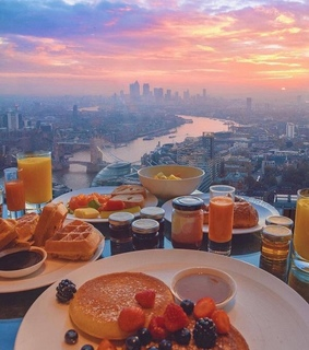 cityscape, colorful and food