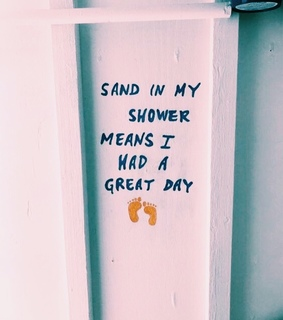 sand, beach and shower