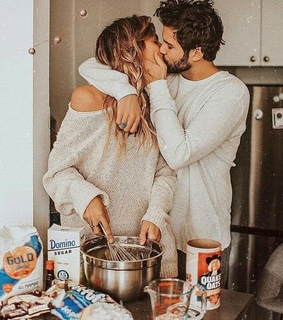 Relationship, amor and breakfast