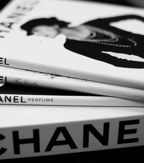 black and white, books and chanel