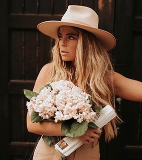 blonde hair, fashion and flowers