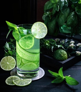 beverage, lime and green aesthetics
