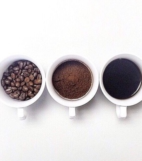 black, coffee and coffee beans