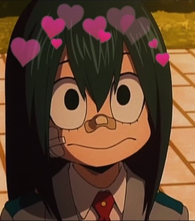 boku no hero academia, heart filter and anime girl