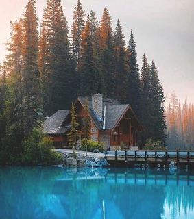 mountain cabin, nature and mountain living