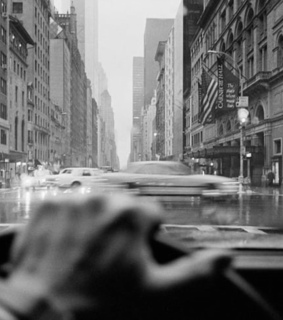 black and white, driving and new york