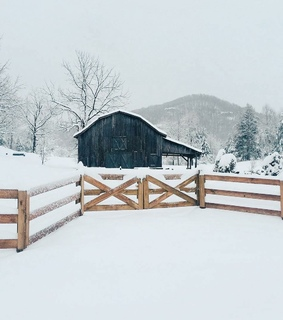 rural, snow and country living