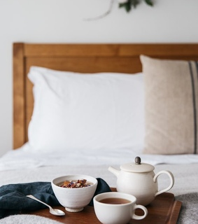 alive, bed and coffee