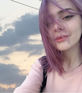 color hair, cute and girly