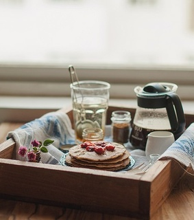 alive, breakfast and coffee