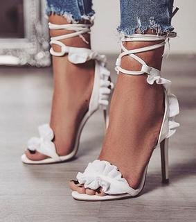 white heels, high heels and summer shoes