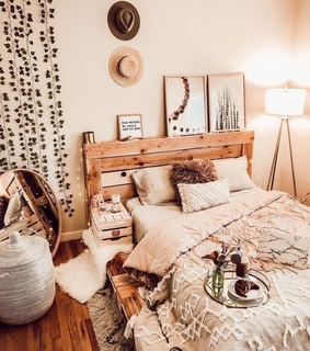 accessories, bedroom and boho style