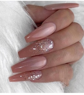 nail design, nude pink and ombre nude