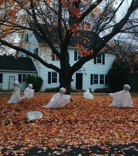 white, Halloween and ghost