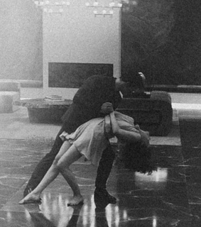 black and white, couple and dancing
