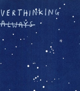 quotes, blue and overthinking