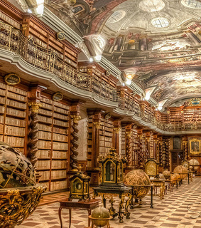 books and libraries, klementinum library and prague