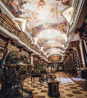 prague, books and libraries and klementinum library