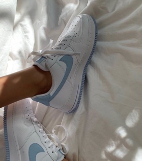 aesthetic, air force 1 and baby blue