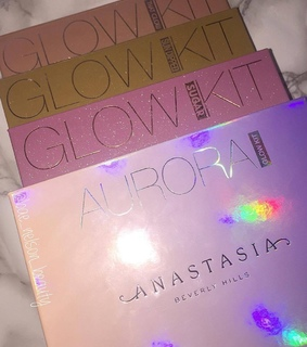 glow kit, sun dipped palette and anastasia bevelry hills