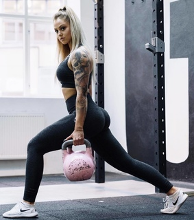 fitness, gym and kettlebell