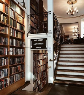 architecture, book shop and library
