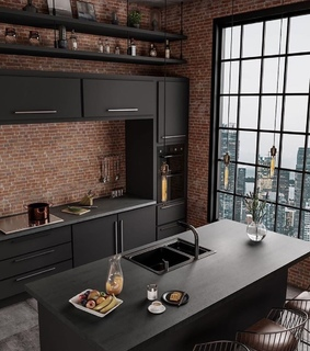 flat, apartment and window