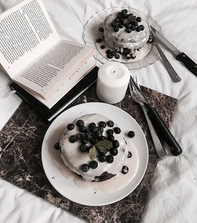 bed, blueberry and book