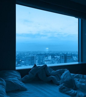 aesthetic, bedroom and blue