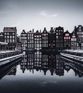 amsterdam, architecture and black