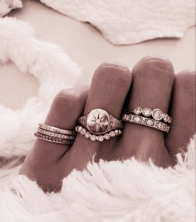 accessories, rings and rose gold