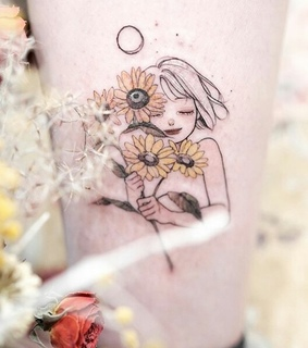 art, cute and flowers